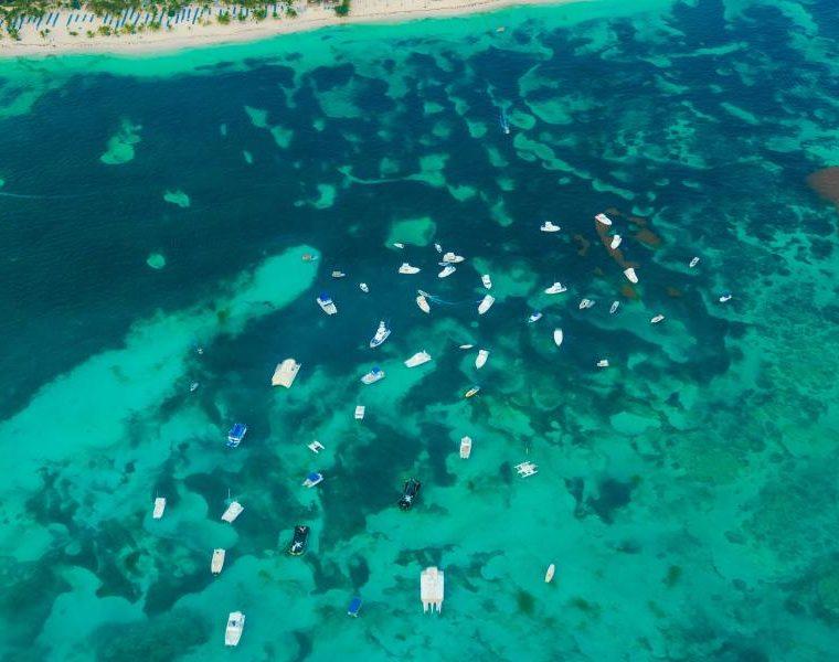 Aerial View Meer, Dominikanische Republik Rundreise