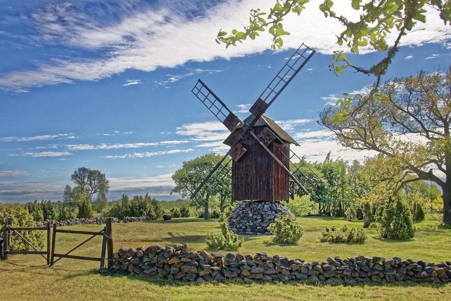 Windmühle, Estland Reisen