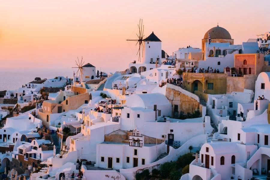 Oia Sonnenuntergang, Griechenland Rundreise