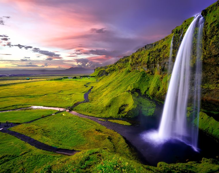 Wasserfall Seljalandsfoss, Island Reisen