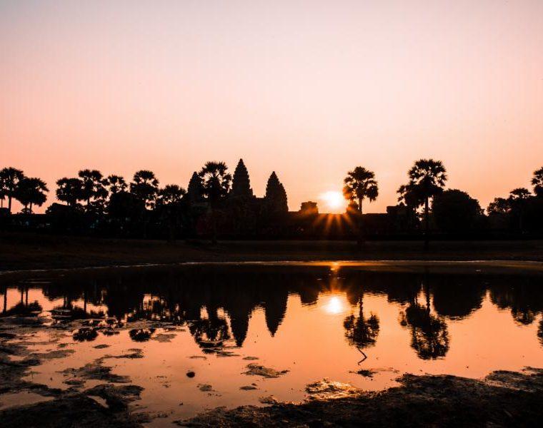 Sonnenuntergang in Angkor Wat, Kambdscha Reisen