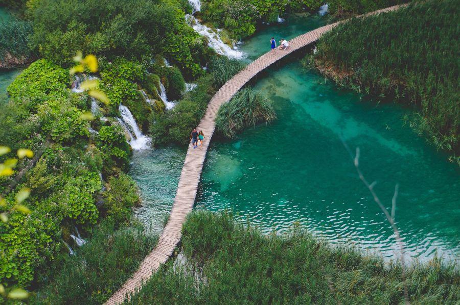 Plitvice Seen, Kroatien Rundreise