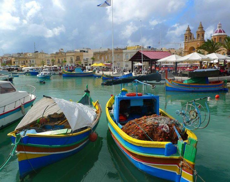 Hafen, Marsaxlokk, Malta Rundreise