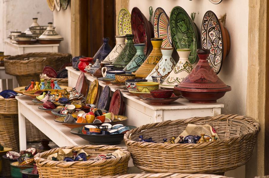 Bunter Markt, Marokko Rundreise