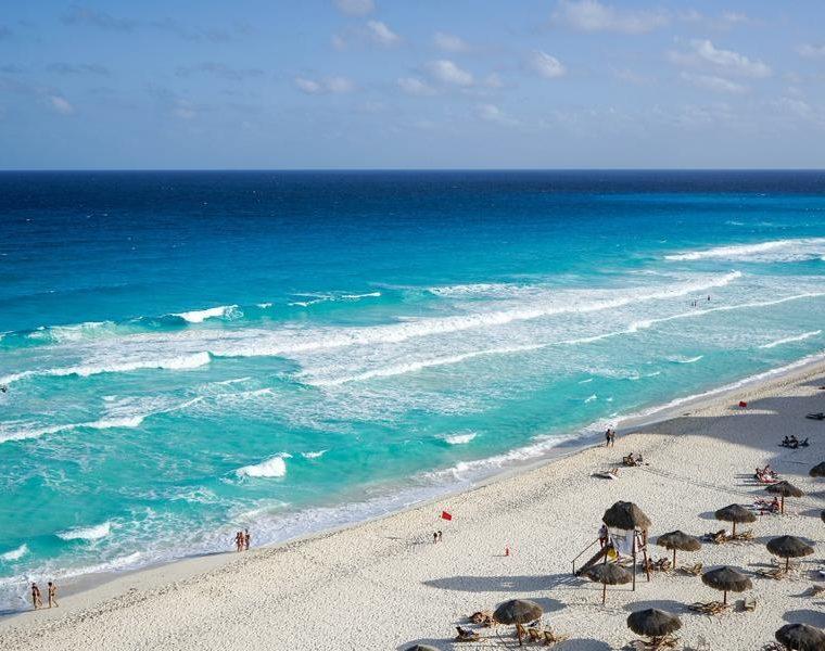 Sandstrand, Cancún, Mexiko Rundreise