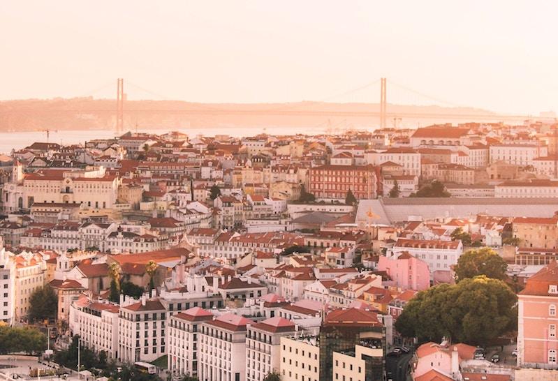 Blick über Lissabon., Portugal
