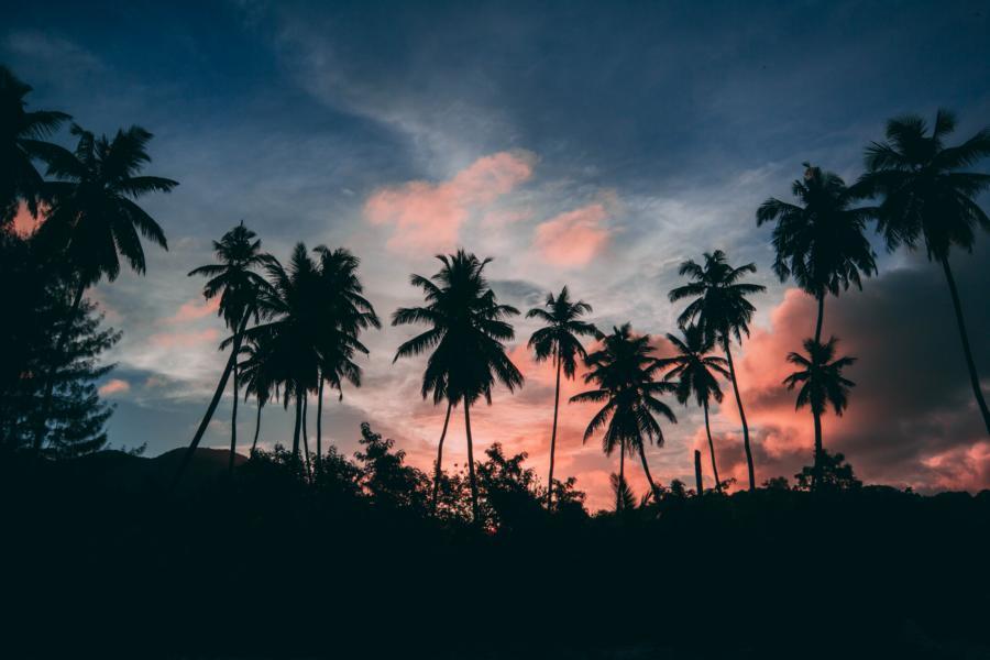 Sonnenuntergang, Seychellen Reisen