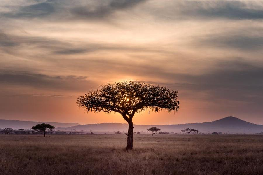 Sonnenuntergang, Südafrika Rundreise
