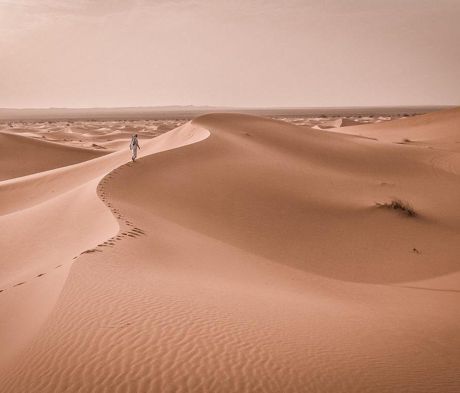 Singende Sanddünen, Dunhuang China - Naturphänomen