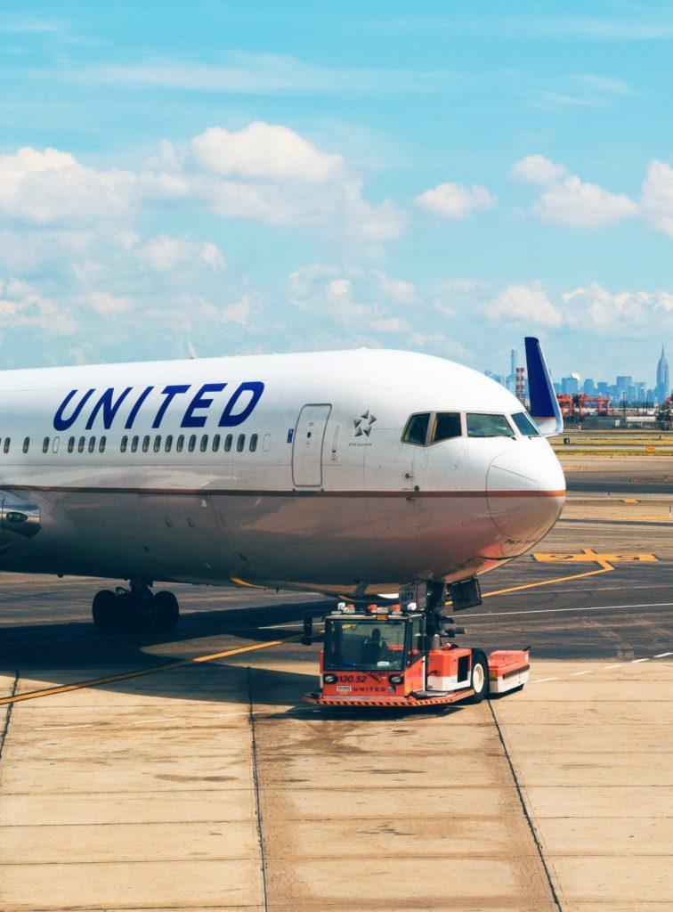 Flugzeug der United Airlines - Zürich und San Francisco