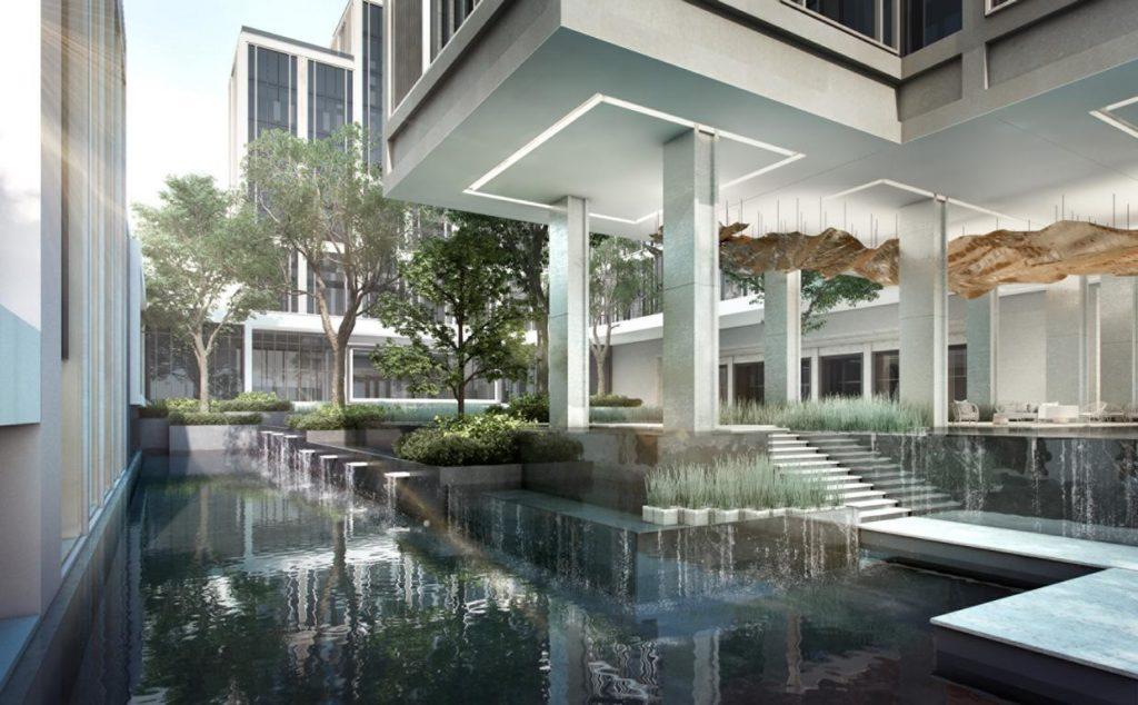 Four Seasons Hotel Bangkok at Chao Praya River , Innenhof