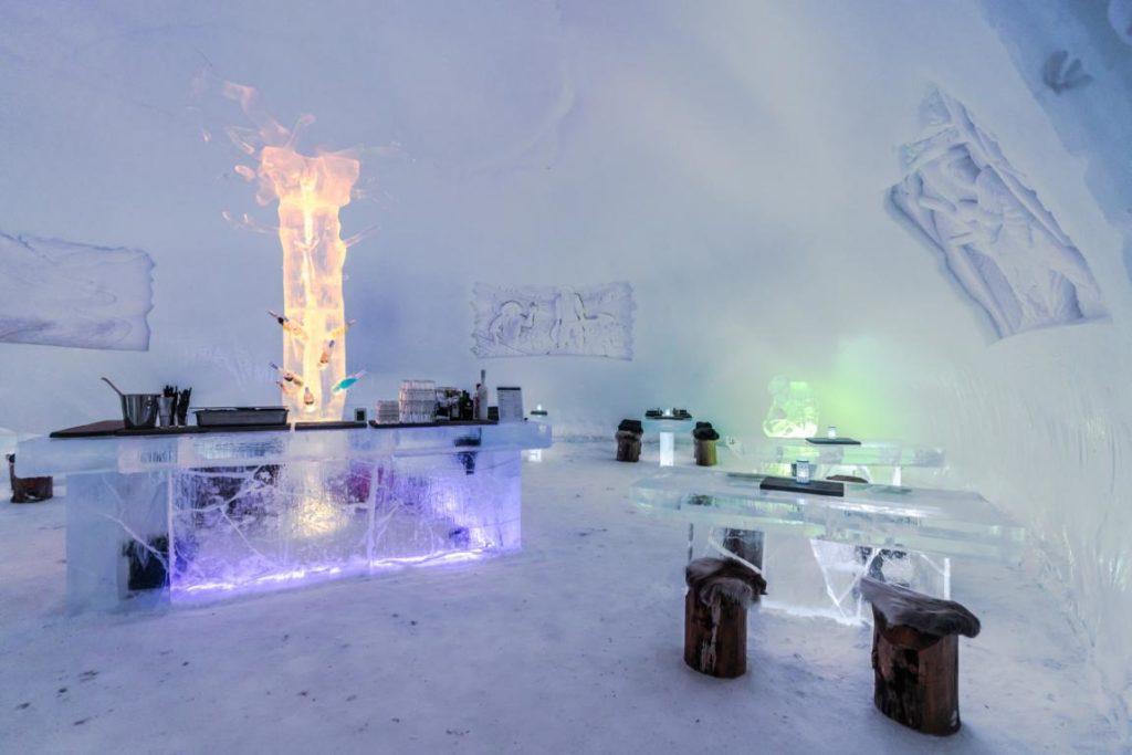 Eis Bar & Restaurant, Northern Lights Village, Finnland, Hotels Stargazing