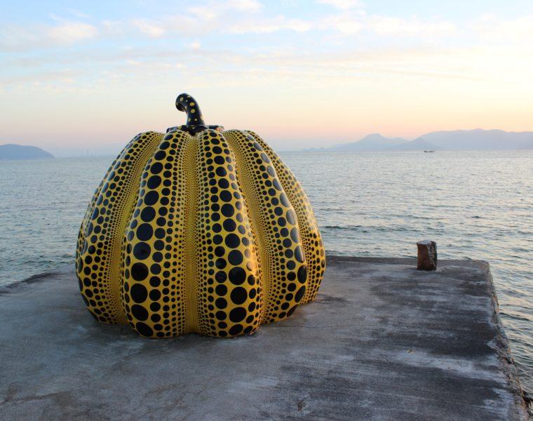 Kürbis, Naoshima Kunstinsel, Japan