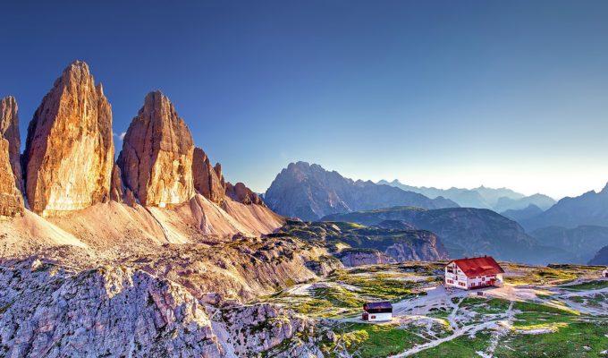 Drei Zinnen, Dolomiten, Südtirol, Natürliche Zwillinge