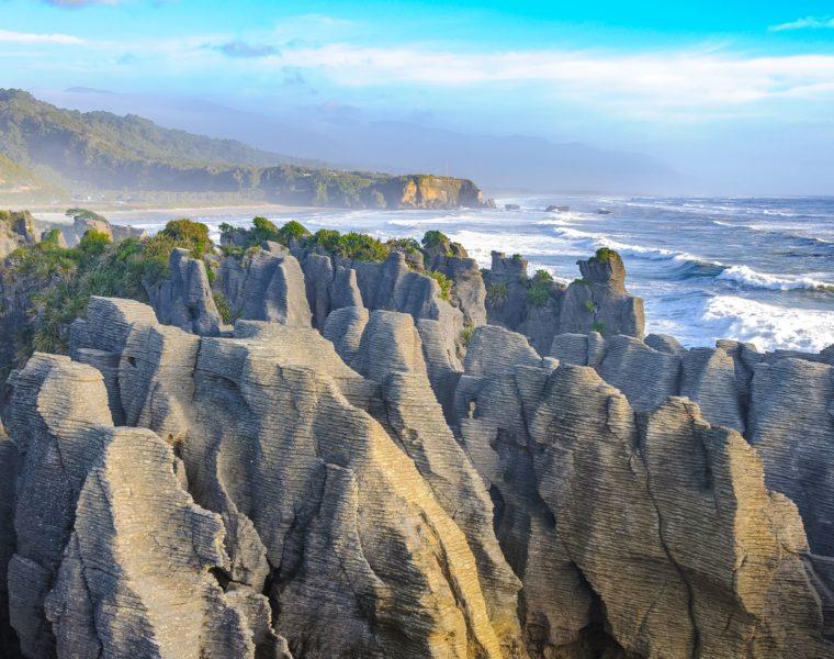 Punakaiki Pancake Rocks, Blow Holes, Neuseeland Reisen