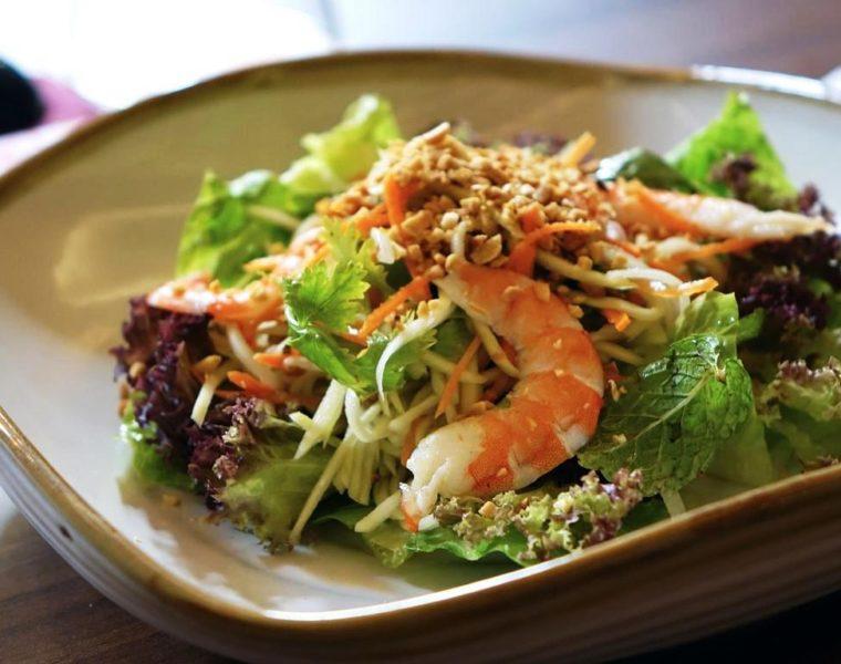 Papayasalat mit Garnelen - Rezept aus Thailand