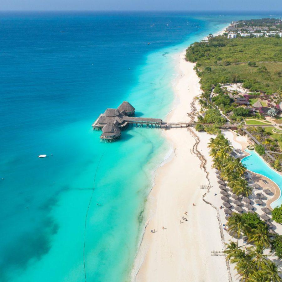 Strandabschnitt auf Sansibar - das entspannte Paradies