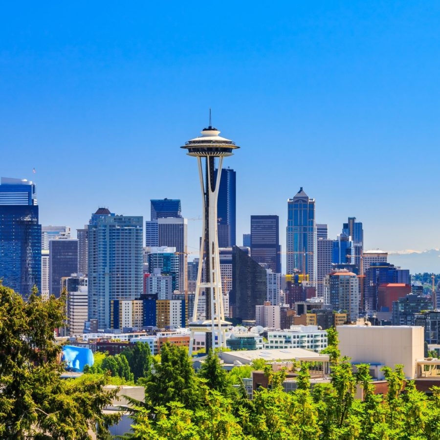 Seattle, Skyline, neuer Flughafen