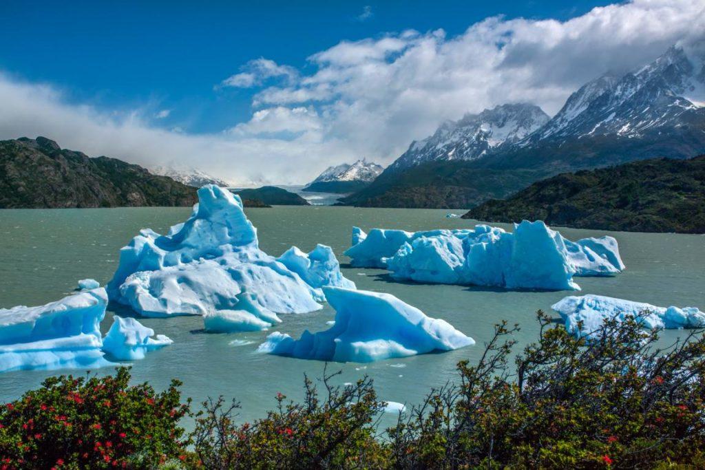 Eisberge auf dem Lago Grey, Torres del Paine, Chile