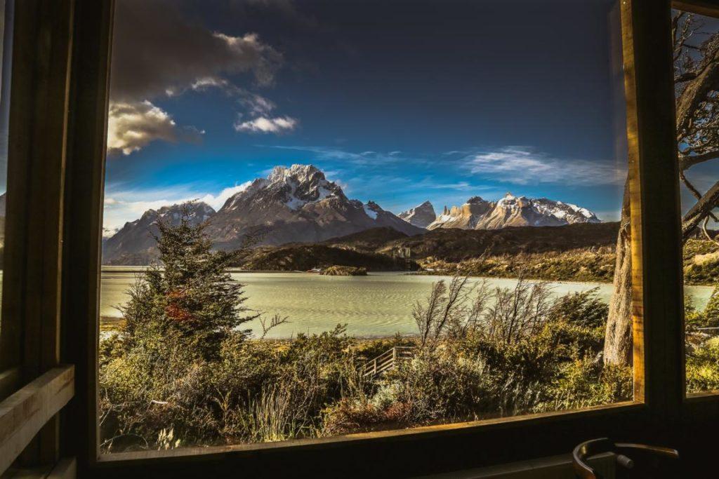 Ausblick, Hotel Lago Grey, Chile Reisen
