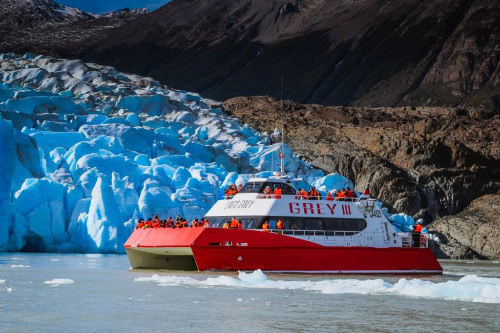 Katamaran Grey III, Grey Gletscher, Patagonien