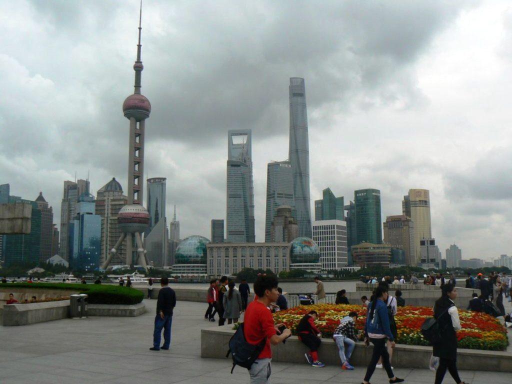 Uferpromenade Bund, Megacity Shanghai, China