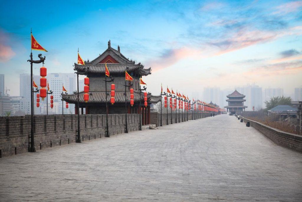 Stadtmauer in Xian - Reisetipps China