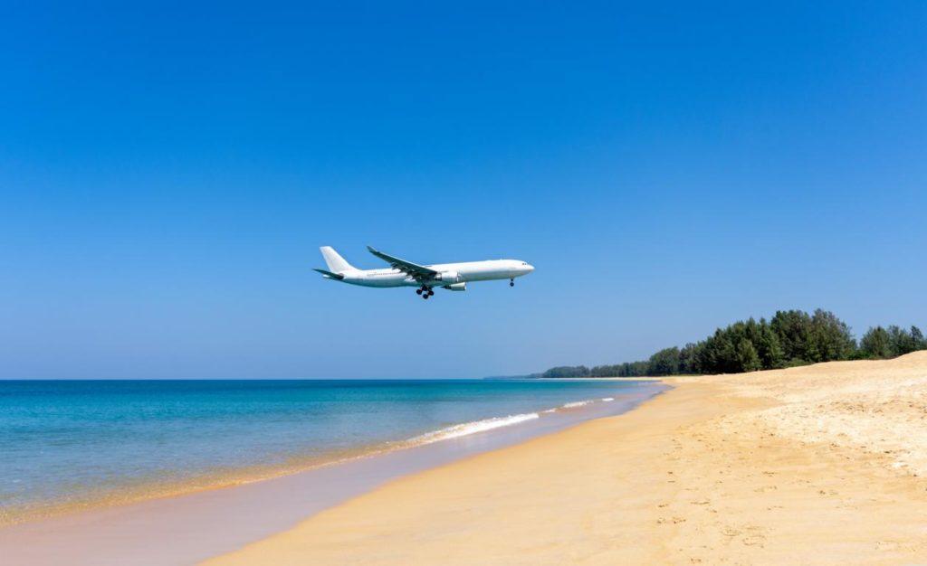 Mai Khao Beach, Flugverkehr, Thailand, Phuket