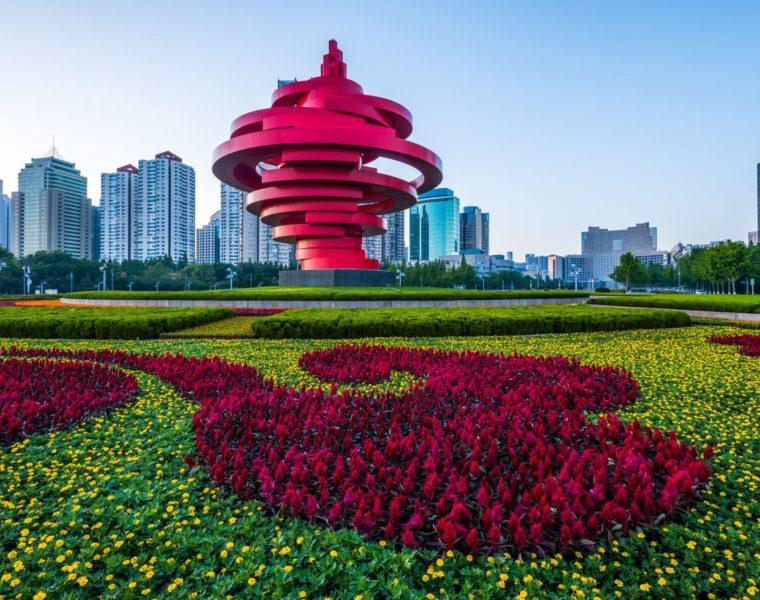 Skyline Qindao, Shandong Reise, China