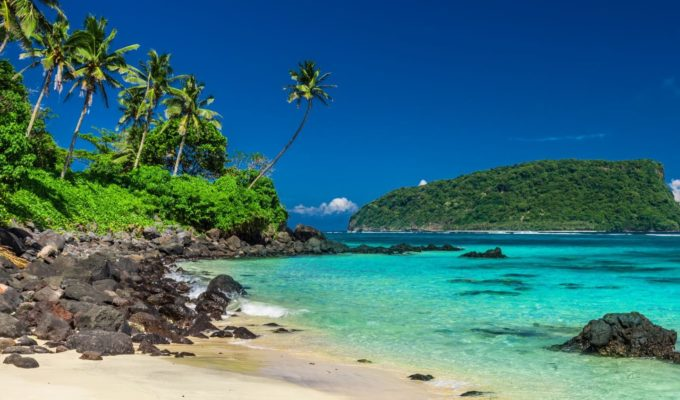 Strand, Samoa Urlaubsziel