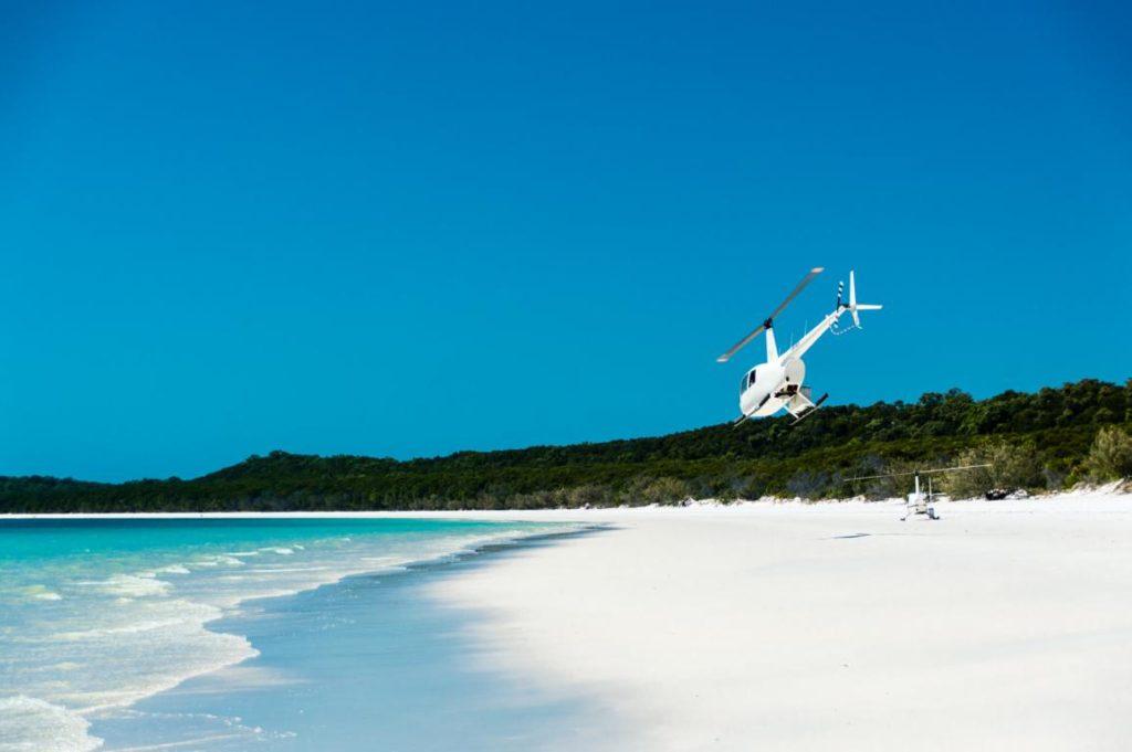 Whitsunday Islands, Australien, Helikopterflug