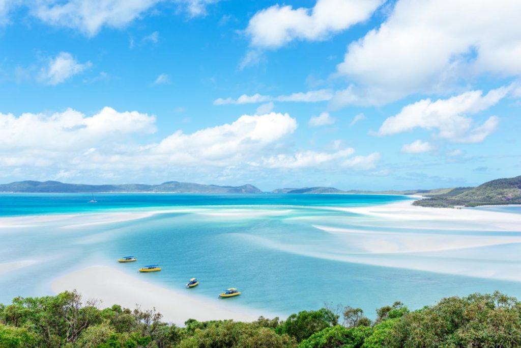 Whitsunday Islands, Australien, Strand, Boote