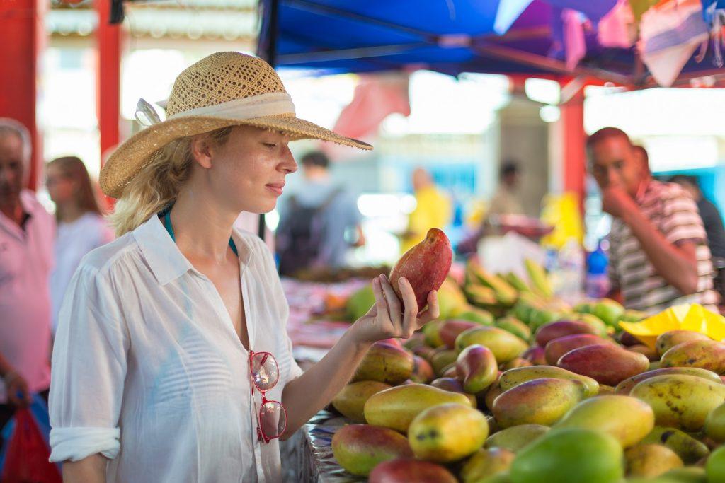 Auf dem Markt von Victoria